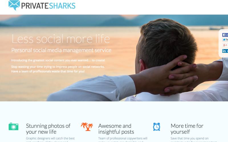 PrivateSharks.com – Správa osobních profilů